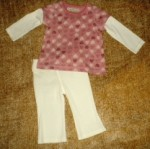 Ruff Hewn Pink Hearts Shirt & Pants Set 12MTH