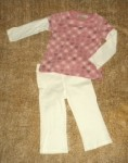 Ruff Hewn Pink Hearts Shirt & Pants Set 24MTH