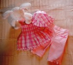 Disney Baby Infant Girl 3 Piece Set 0-3MTH