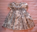 Rare Editions Infant Baby Girl Black/Ivory Dress 3MTH