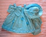 Rare Editions Infant Baby Girl Blue Smock Dress 9MTH
