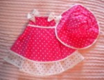 Rare Editions Infant Baby Girl Pink Polka Dot Dress 9MTH