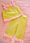 Chantilly Place Toddler Girl 2PC Green Capri Set 2T