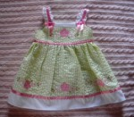 Youngland Infant Baby Girl Light Green Checked Dress 6-9MTH