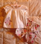 First Moments Infant Baby Girl Two Piece Capri Set 0-3MTH