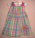 Sophie Rose Baby Toddler Girl Plaid Dress 12MTH