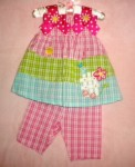 Bonnie Baby Infant Baby Girl 2PC Capri Set 12MTH