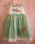 Sophie Rose Baby Toddler Girl Blue & Green Dress 24MTH