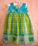 Bonnie Baby Toddler Girl Blue & Green Dress 24MTH