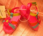 Jumping Beans Infant Baby Girl Colorful Sandals Size 2