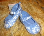 Gymboree Infant Baby Girl Blue/White Floral Shoes Size 2