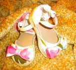Gymboree Infant Baby Girl Floral Sandals w/Bows Size 3