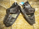 The Children's Place Infant Baby Boy Brown Sandals 3-6MTH Gold