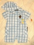 Disney Baby Infant Boy Blue Pooh Outfit w/Hat 3-6MTH
