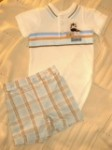 First Moments Infant Baby Boy Zebra Shorts Set 3-6MTH