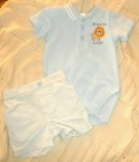 First Moments Infant Baby Boy Blue Shorts Set 0-3MTH