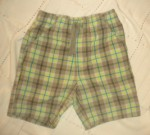 Jumping Beans Toddler Boy Green/Tan Plaid Shorts 3T