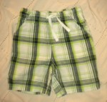 Jumping Beans Toddler Boy Green/Blue Plaid Shorts 3T