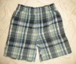 Jumping Beans Toddler Boy Dark Blue/Green Plaid Shorts 4T