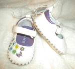 The Children's Place Infant Baby Girl White & Purple Shoes 3-6MTH Flowers