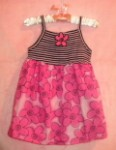 MiniWear Infant Baby Girl Pink Floral Sundress 12MTH