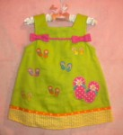 Youngland Infant Baby Girl Green Sundress w/Flip Flops 12MTH