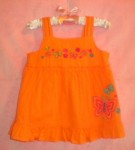 Sonoma Baby Toddler Girl Fancy Orange Tank Top 18MTH