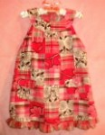 Baby Toddler Girl Pink Patchwork Design Dress 24MTH