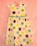 Genuine Kids Baby Toddler Girl White Polka Dot Dress 24MTH