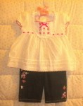 Baby Headquarters Toddler Girl 2PC Set with Jeans 24MTH