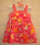Sweet Heart Rose Infant Baby Girl Floral Dress 12MTH