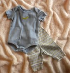 Gymboree Infant Baby Boy 2PC Blue Onesie & Pants Set 0-3MTH