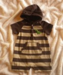 Carter's Infant Baby Boy Brown & Tan Striped 1PC 6MTH