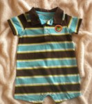 Carter's Infant Baby Boy Brown & Blue Striped 1PC 6MTH