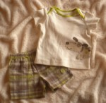 Carter's Infant Baby Boy 2PC Short Set w/Puppy 6MTH