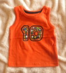 Jumping Beans Infant Baby Boy Orange Sports Tank 6-9MTH