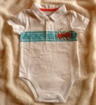Jumping Beans Infant Baby Boy White Onesie w/Ant 6-9MTH