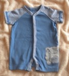 The Children's Place Infant Baby Boy Blue Outfit w/Frog 6-9MTH