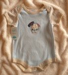 Bon Bebe Infant Baby Boy Blue Onesie w/Bear 6-9MTH