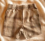 Jumping Beans Baby Toddler Boy Tan/Brown Plaid Shorts 24MTH