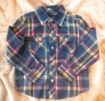 Greendog Toddler Boy Blue Plaid Shirt 3T