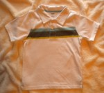 Gymboree Toddler Boy White Short Sleeve Shirt w/Accent Stripes 3T