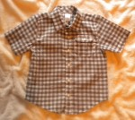 Gymboree Toddler Boy Short Sleeve Dressy Grey/White Shirt 3T-4T