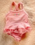Carter's Infant Baby Girl Pink Bathing Suit w/Seahorse 12MTH