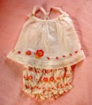 Gymboree Infant Baby Girl White Summer Set w/Lion 0-3MTH