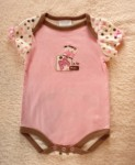 Bon Bebe Infant Baby Girl Pink Onesie with Cow 3-6MTH