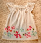 Jumping Beans Infant Baby Girl White Top w/Butterflies 3-6MTH