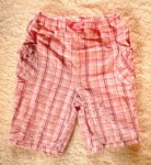 Jumping Beans Infant Baby Girl Pink Plaid Capri Pants 3-6MTH