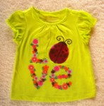 Greendog Infant Baby Girl Light Green Shirt w/Ladybugs 3-6MTH