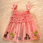 Gymboree Infant Baby Girl Pink Ruffled Top w/Animals 3-6MTH